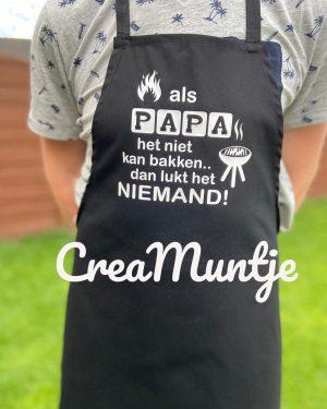Schort Als papa het niet kan bakken