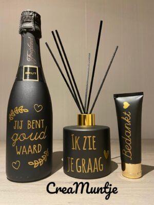 Geschenkpakket Cava Zwart/Goud 1